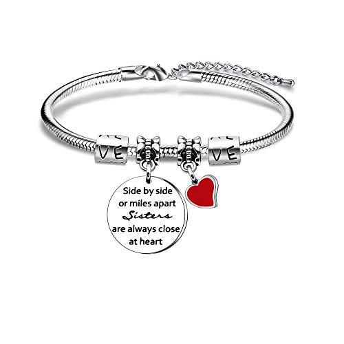 Sisters Gift,Adjustable Silver Snake Bracelet For Women Lady Girl Christmas Birthday Graduation Gift
