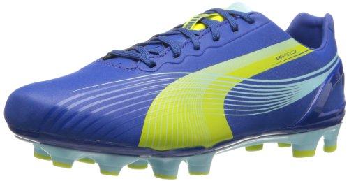PUMA Women's Evospeed 3.2 FG Soccer Shoe,Monaco Blue/Sulfur Spring/Sunny Lime,8.5 B US