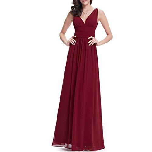 KAXIDY Vestiti Estivi Donna Vestiti da Sera Eleganti Vestito da Sera Lungo Abiti da Cocktail (Small, Vino Rosso)
