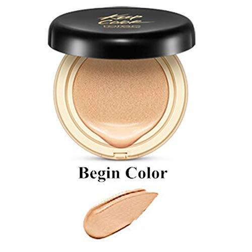 Yiwa Maquillage Air Cushion BB Crème Correcteur Hydratant Fond de Teint Blanchissant Sans Faille Maquillage Coussin BB Crème couleur naturelle