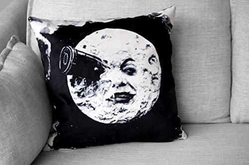 Lplpol Funda de almohada decorativa, Le Voyage Dans La Lune – Funda de almohada – Película silenciosa francesa – Georges MéLièS, almohadas modernas para sofá cama sofá cama de 18 x 18 pulgadas