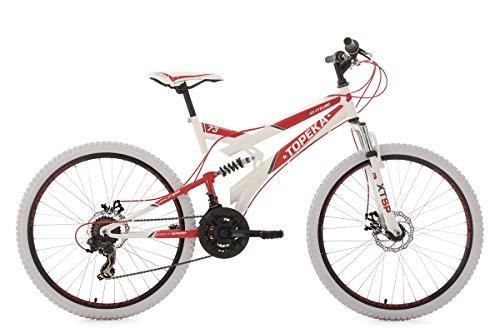 KS Cycling Mountainbike MTB Fully 26'' Topeka weiß-rot RH44cm