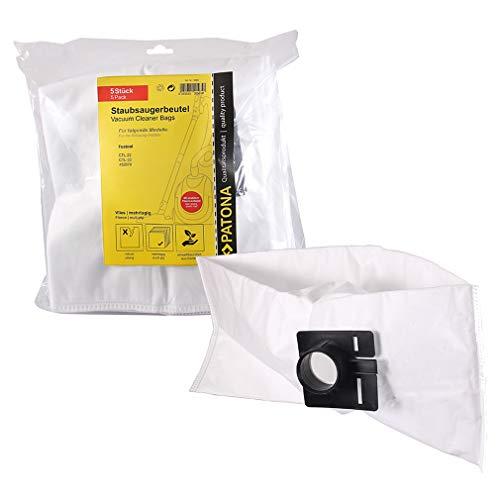 PATONA 5 Bolsas de aspiradora 452970 compatible con Festool Cleantec CTL 22, CTL 33, bolsas de fieltro sintético de 5 capas