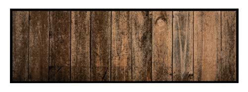 Zala Living Waschbarer Küchenläufer Wild Wood Braun Grau, 50x150 cm