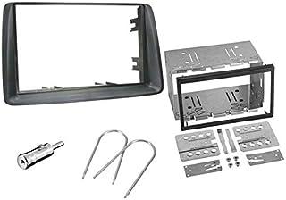 Sound Way Kit Montaggio Autoradio, Mascherina 2 DIN con Plancia, Adattatore Antenna, Chiavi di Smontaggio Compatibile con ...