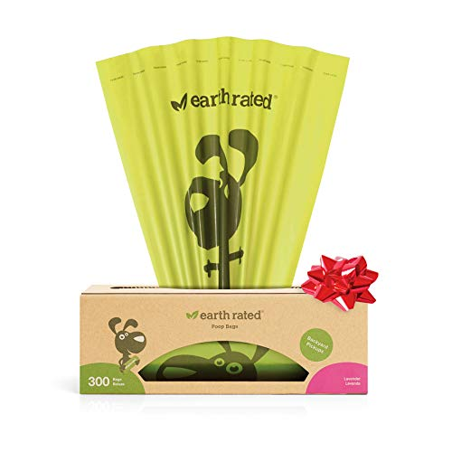 Earth Rated Dog Poop Bags, 300 Dog Waste Bags on a Large Single Roll, Grab and Go, Guaranteed...