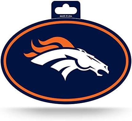 NFL Rico Industries Color Team Logo Oval Sticker Denver Broncos product image