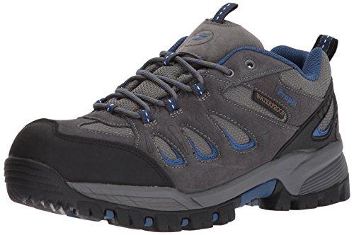 Propet Men's Ridge Walker Low Hiking Boot, Grey/Blue, 10.5 3E US