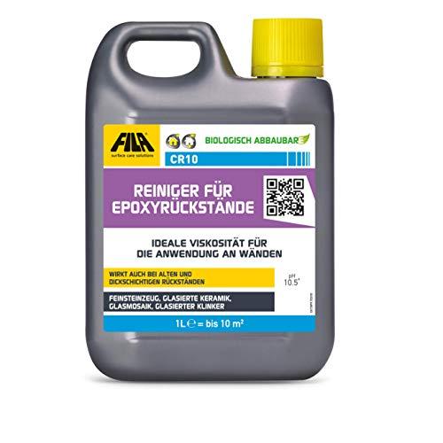 Fila FILACR10 Reiniger für Rückstände von Epoxidmörtel z.B. für Feinsteinzeug, glasierte Keramik, Glasmosaik. 1 l. für bis zu 10 qm