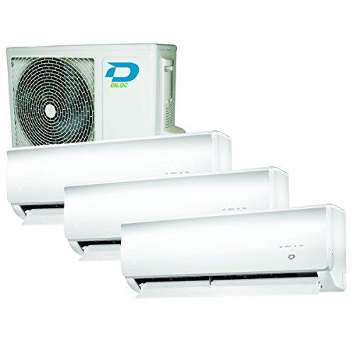 Climatizzatore inverter trial split WALL-I 12000 + 12000 + 12000 Btu DILOC classe A++/A+
