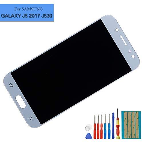 E-yiiviil New LCD-scherm touchscreen beeldscherm digitizer voor Samsung Galaxy J5 Pro 2017 SM-J530 scherm blauw glas Assembly display + lijm + gereedschappen