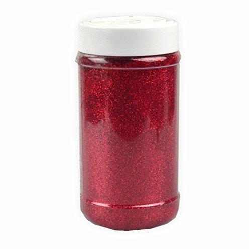 Glitter zum Streuen rot 250g Streuglitter Glitzer - Glitzerpulver - Glitzer basteln