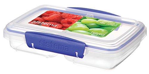 Sistema SI1517 Klip it Transparenter Aufbewahrungsbehälter aus Kunststoff 17,5 x 11,7 x 4,2 cm 350 ml ,farblich sortiert