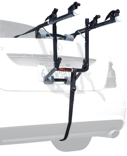 Allen Sports Deluxe 2-Bike Trunk Mount Rack, Model 102DB, Black/ Silver, 23 x 15 x 4 inches