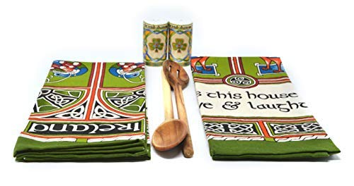 Royal Tara Set 2 Tea Towels Celtic Peacock