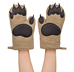 Funny bear gifts like oven mits with bear claws