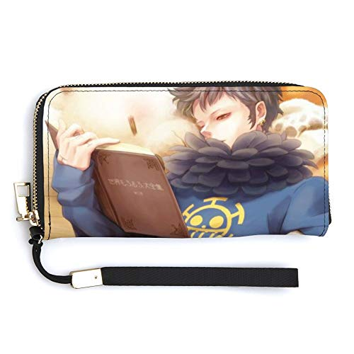 One PIECEワンピースA0 (51)財布の長い本革スタイリッシュな大容量ラウンドファスナー男性と女性への使いやすいギフトLong Handbagブランドファッション
