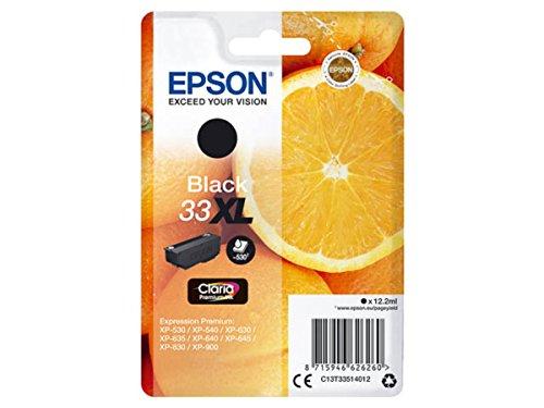 Epson Original–EPSON Expression Premium XP de 830(33x l/c13t33514012)–Cartucho de tinta Negro–530páginas–12,2ml