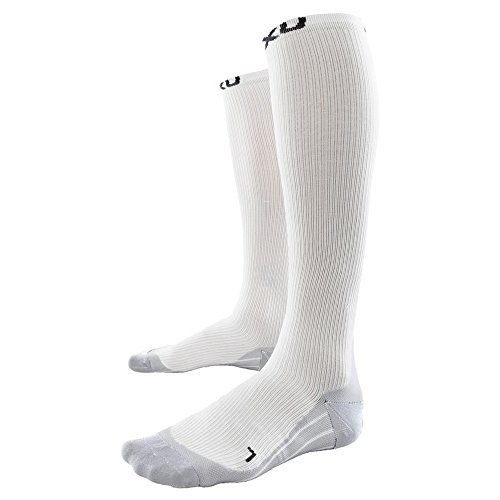2XU Compression Sock for Race Kompressionsstrümpfe White/Grey S