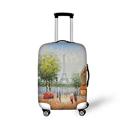 CHAQLIN Maleta de equipaje impresa de la torre Eiffel de la moda cubre 18