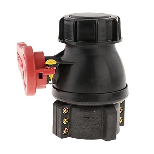 perfeclan Adaptador del tanque del grifo de agua de 1000L IBC, piezas de la herramienta de instalación del conector de manguera - Válvula de bola de 62 mm