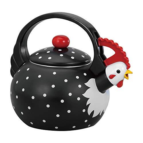 UPware 1.6 Quart Enamel-on-Steel Whistling Tea Kettle (Rooster)