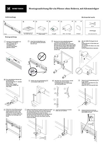 Plissee Graphit HOME-VISION - 6