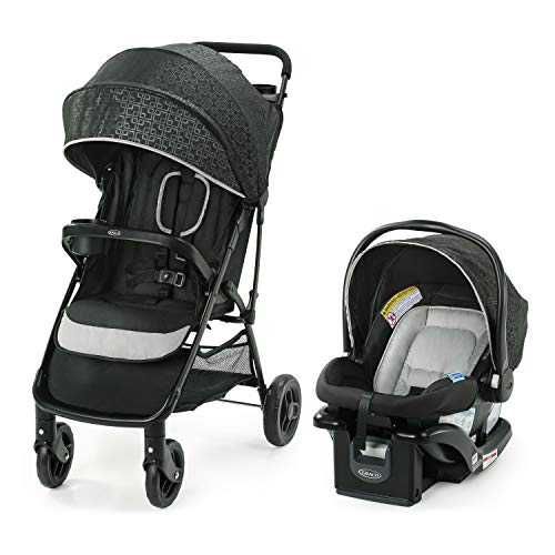 Graco NimbleLite Travel System | Includes Lightweight Stroller and SnugRide 35 Lite Infant Car Seat, Parent Storage, Compact Fold | Lightweight Stroller Under 15 Pounds, Frisco