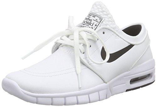 Nike Unisex-Erwachsene Stefan Janoski MAX L Low-Top, Weiß (100 White/Black), 38 EU