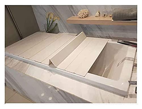 Cubierta de la bañera Cubierta de baño Anti-polvo plegable placa de polvo bañera cubierta de aislamiento PVC cubierta de bañera plegable Materiales seguros y ecológicos. ( Size : 115*80*0.6cm )