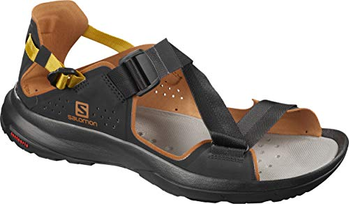 Salomon Shoes Tech, Sandales Plateforme Mixte Adulte, Marron (Noir/Café Caramel/Bois De Flèche), 45 1/3 EU