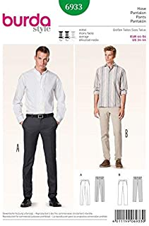 Burda Men's Sewing Pattern 6933 - Trousers Pants Sizes: 34-44