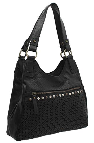 Mala Leather Warwick Collection Leather Shoulder Bag 7156_26 Black