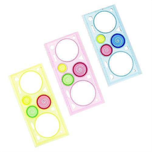 GGG ?Mehrzweck Kunststoff Spirograph Lineal Geometrische Formen Zeichnen Kinder Spielzeug