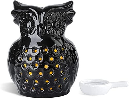 AOOF Lindo quemador de aceite esencial familia dormitorio decoración aroma difusor Navidad inauguración de la casa regalo (negro)