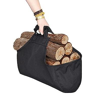 CALIDAKA Firewood Carrier Bag Firewood Log Carrier Tote Bag Oxford Canvas Firewood Carrier Log Tote Bag Fireplace Log Carrier Holders with Top Handles for Storage Camping Tool by CALIDAKA