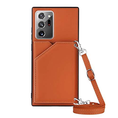 Lanyard - Funda para Samsung Galaxy Note 20 Ultra (caqui)