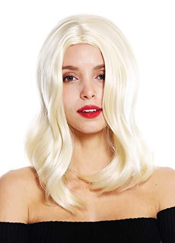 WIG ME UP - GFW2702-613 Perruque dame mi-longue raie centrale lisse blond platine