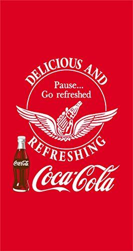 CTI 042299 Toalla Coca Cola Suave, algodón y Velour, 85 x 160 cm