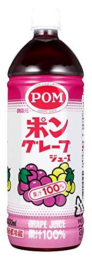 えひめ飲料 POM ポンジュース ぶどう ペット 1L × 6本