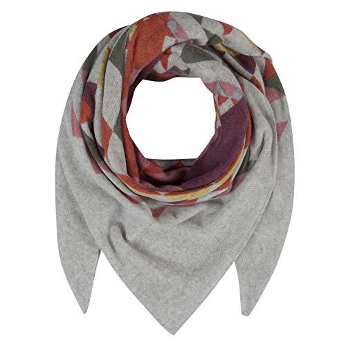 CODELLO Premium doek driehoekig sjaal wolsjaal wintersjaal sjaal grijs 92108809