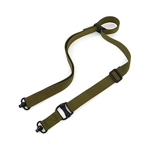 BASOYO Accesorio de Correa de Eslinga de Culata de Nailon Ajustable Kit de Adaptador de Montaje de Eslinga Se Conecta a Cualquier Eslinga (Eslinga de 2 Puntos) en Rifle, Airsoft y Escopeta