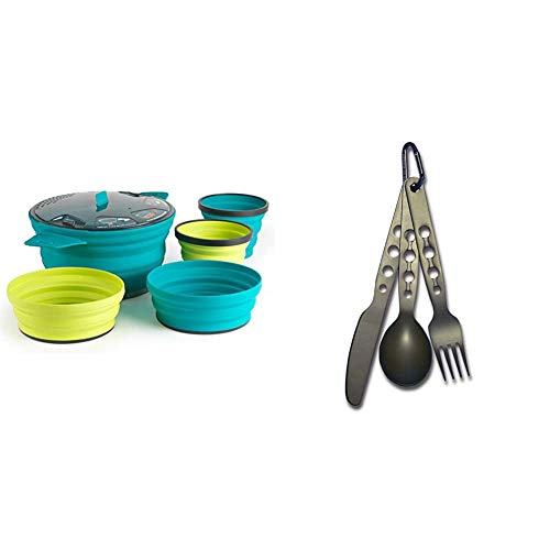 Sea to Summit Xset 31 Lot de 5 saladiers de 2,8 L2 saladiers Xmugs multicolores. & Couverts de cuisine en voyage Gris Taille M