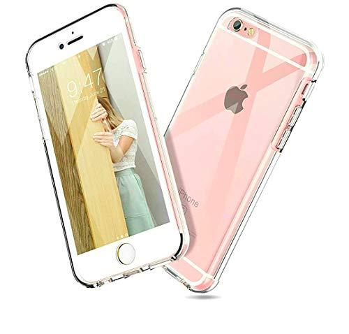 Le Petit Français - Carcasa para iPhone 6 y 6S (parte delantera trasera, doble protección híbrida de 360º, antigolpes, transparente