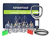Lure Cupping Therapy Set - Cupping Cups for Cupping Massage, Muscle, Joints, Fascia & Cellulite - Premium Professional Cupping Therapy Kit + Suction Gun, Magnets, Printed English Guide