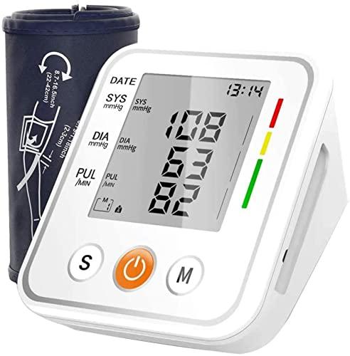 Oberarm-Blutdruckmessgerät, Handgelenk-Blutdruckmessgerät, mit großer LCD-Anzeige 2 Benutzer 198 Speicher Genauer BP-Monitor für Blutdruck und Herzfrequenzimpuls