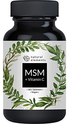 MSM 2000mg* mit natürlichem Vitamin C - Einführungspreis - 365 Tabletten - *Pro Tagesdosis - Laborgeprüft, hochdosiert, vegan, hergestellt in Deutschland