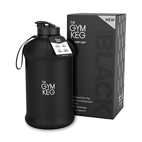 Le Gym Keg - Bouteille d'eau pour Culturisme - Bouteille d'eau Durable de 2,2 litres avec Manche - Bouteille d'eau Sport de 2,2 litres sans bisphénol A et sans BPA - Bouteille de Gym