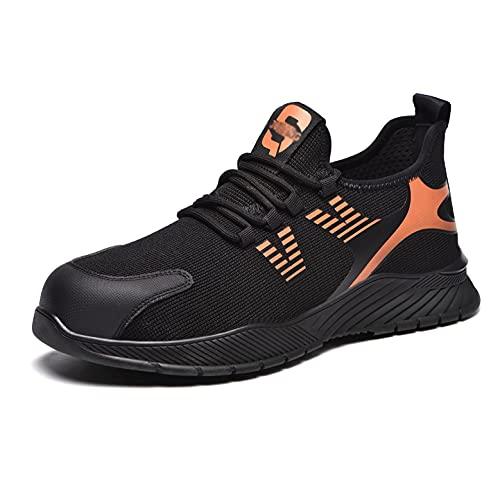 Zapatos de Trabajo Zapatos de Seguridad de Malla Ligeros de los Hombres, Wome s3 Zapatos de Trabajo de Kevlar Ligero, Verano de la Taza de Punta de Acero de Verano Zapatos Protectores industriales