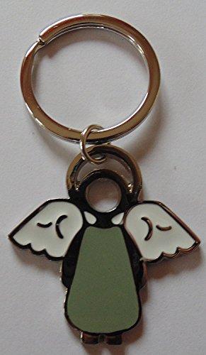 Gilde Schlüsselanhänger Schutzengel Blau - Grau Flippi mit Schriftzug Schutzengel